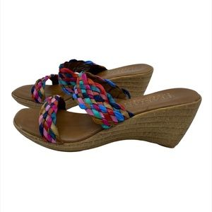 Italian shoemakers rainbow strap sandals